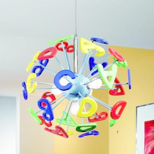 Illuminare la cameretta dei bimbi con lampadario k-letterine