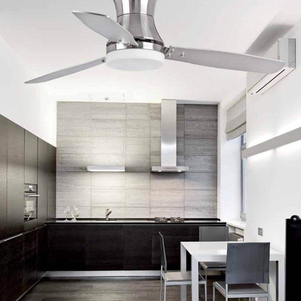 FARO Tonsay 33385 Ventilatore da soffitto Nichel