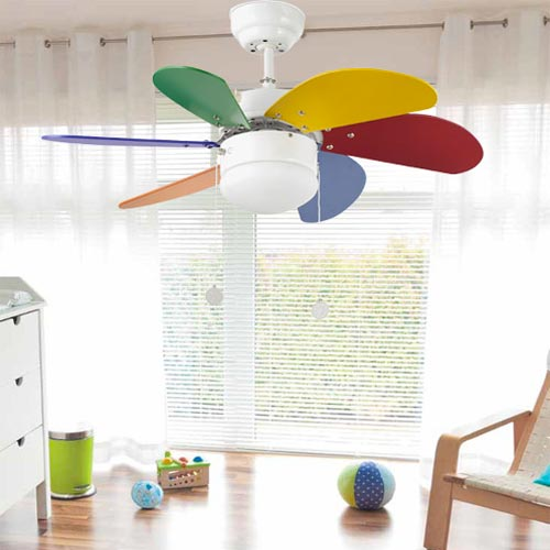 Ventilatore a soffitto FARO Palao 33179 Multicolore