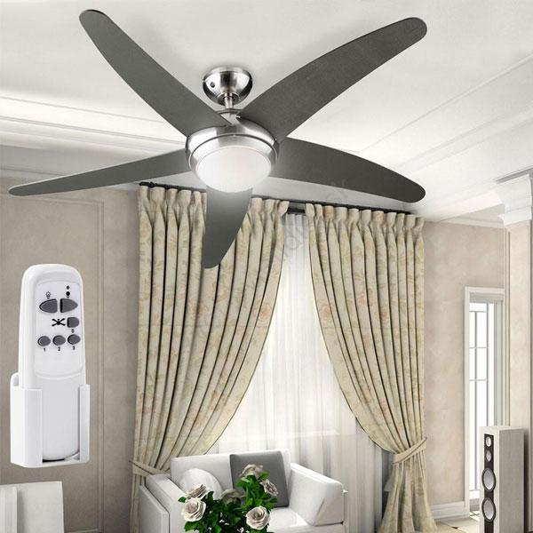 Ventilatore da soffitto Fabiola per arredare la camera da letto moderna