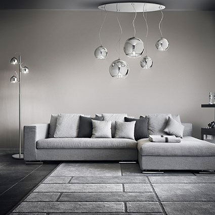 Ideal Lux Discovery SP5 Plafoniera per soggiorno moderno