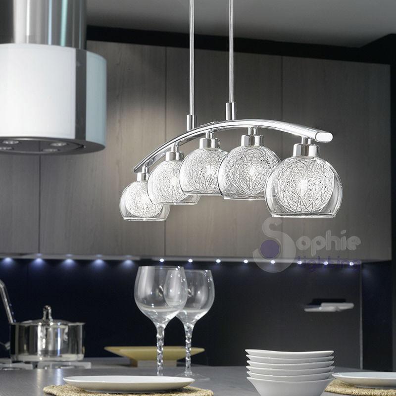Lampadario moderno a sospensione 5 luci