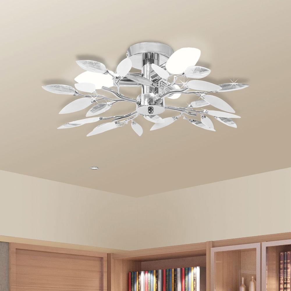 Lampadario moderno da soffitto con cristalli acrilici