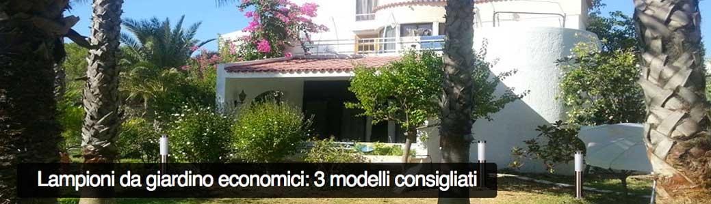 Lampioni da giardino economici: 3 modelli consigliati
