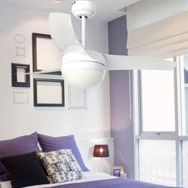 Ventilatore da soffitto Easy per camera da letto moderna