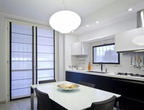 Tende per caratterizzare il design degli spazi interni ed - Tende moderne cucina ...
