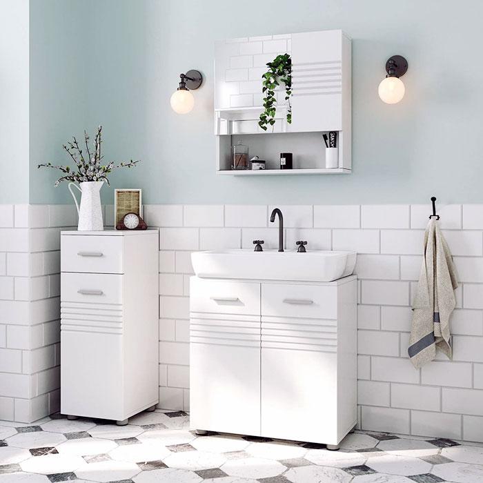Sottolavabo bagno moderno VASAGLE BBK01WT