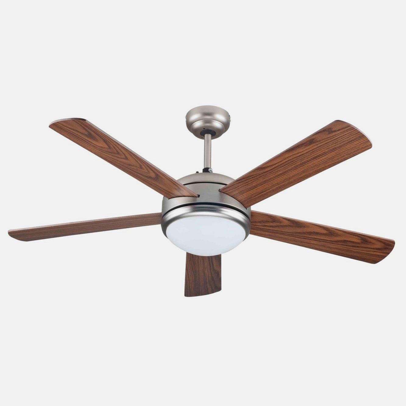 Ventilatore da soffitto con luce 5 pale in legno - Scopri l'offerta su eBay