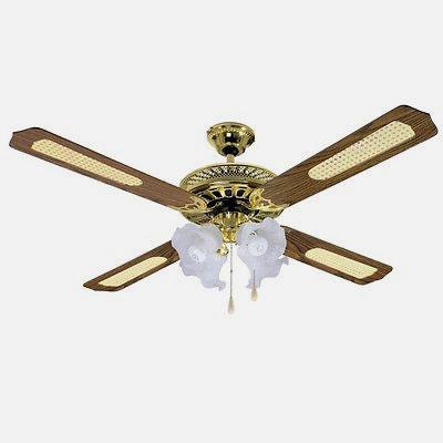 Ventilatore da soffitto con luce in ottone - Scopri l'offerta su eBay